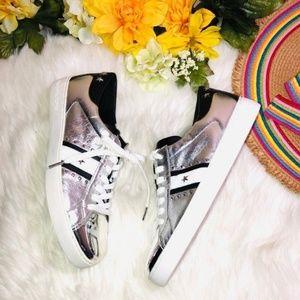 Michael Kors Metallic Leather Sneaker 10
